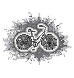 Decorative bicycle vector
