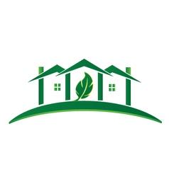 Green house ecology concept logo vector
