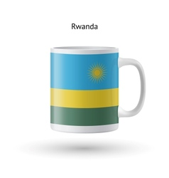 Rwanda flag souvenir mug on white background vector