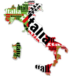 A map of italy vector