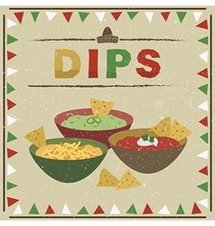 Mexican dips vector