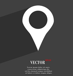 Map pointer gps location icon symbol flat modern vector
