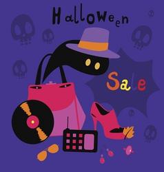 Halloween sale cartoons vector