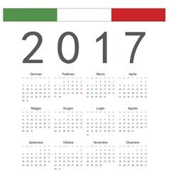 Italian square calendar 2017 vector