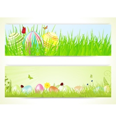 Easter banners 2013 vector