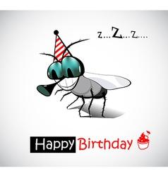 Happy birthday fly vector
