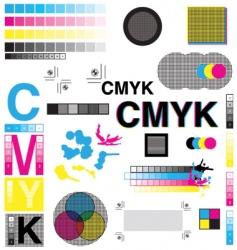 Cmyk designs vector