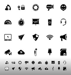 Smart phone screen icons on white background vector