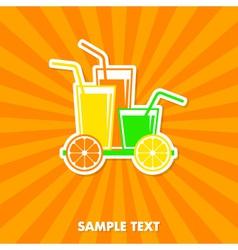 Juice concept card vector