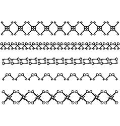 Antique keys strokes vector