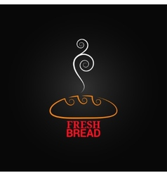 Bread ornate design background vector