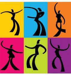 Dancers vector