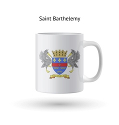 Saint barthelemy flag souvenir mug on white vector