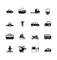 Transportation pictograms collection vector