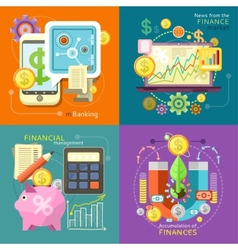 Mbanking finance market management vector