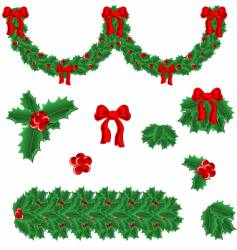 Set of elements for christmas vector