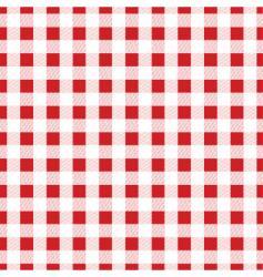 Gingham fabric vector