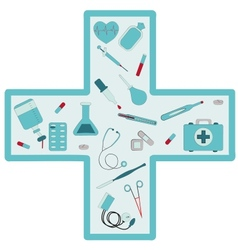 Medical set vector