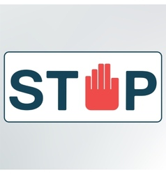 Sign stop vector