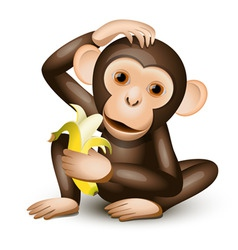 Little monkey vector