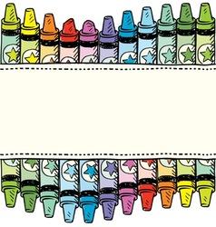 Doodle crayon label vector