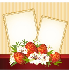 Easter border frame vector