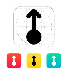 Scroll up gesture abstract icon vector