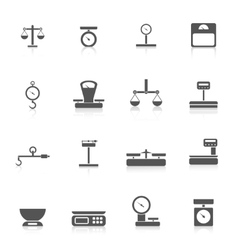 Scales weight icon vector