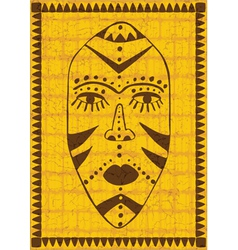 Golden african mask vector