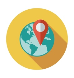 Globe with pin vector
