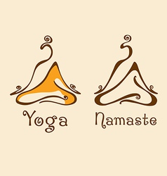 Yoga logo 2 vector