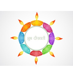 Beautiful diwali background vector