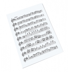 Music sheet vector