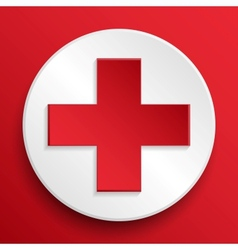 First aid medical button symbol vector