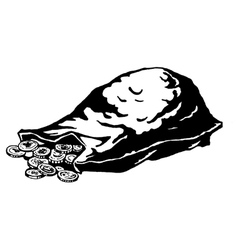 Lying sack of coins vector