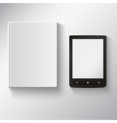 E-book and old book on a white background vector