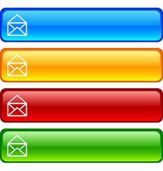 Mail buttons vector