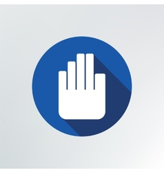 Hand stop icon vector