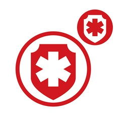 Medical insurance simple single color icon vector