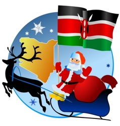 Merry christmas kenya vector