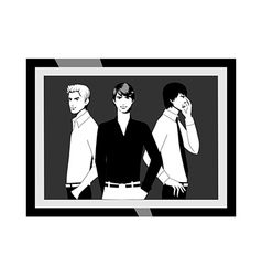 A black and white photograph vector