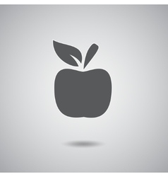 Apple sign gray vector