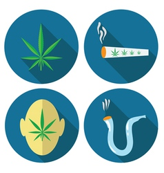 Cannabis icons vector