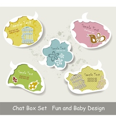 Idea bulbs baby chat bubbles vector