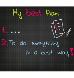 My best plan vector