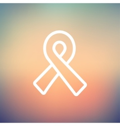 Unity ribbon thin line icon vector