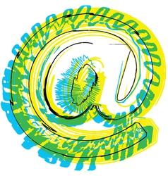 Sketch arobase symbol vector