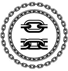 Chain seamless silhouettes vector