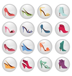 Woman shoes icon vector