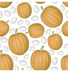 Pumpkin seed pattern vector